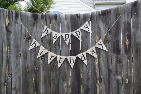 Happy Birthday Banner Banner Na Zamówienie Pierwsze Etsy