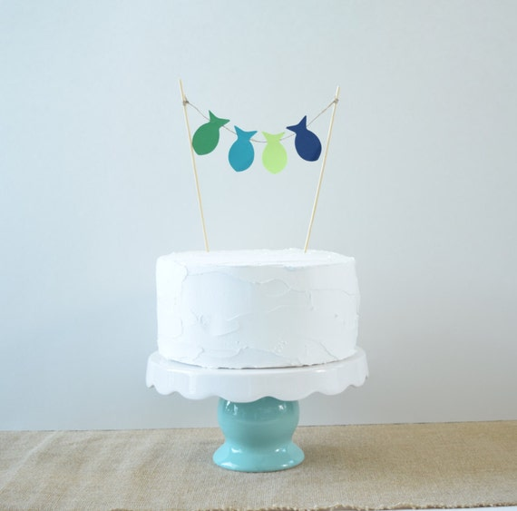 Fishing Decorations Fishing Birthday Cake Topper Party Etsy