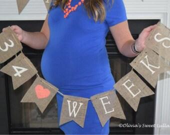 Pregnancy Countdown- Week by Week Tracker- Maternity Photo Prop- Tracker- Pregnancy Milestones- Gift for Pregnancy- Pregnancy Photo Prop