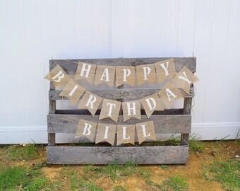 Birthday Decorations- Happy Birthday- Birthday Banner- First Birthday- Party Banner- Happy Birthday Sign- Personalized Banner- Party Decor