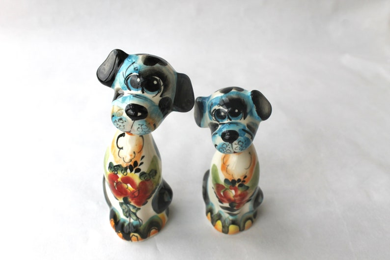 Dog Miniature Couple Figurine Birthday Gift For Pet Owner