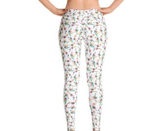 Leggings with Floral Design