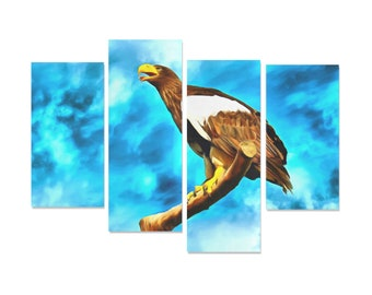 Giant Eagle Canvas Painting 4 Piece