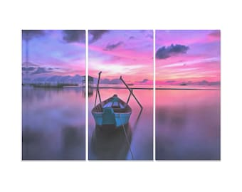 Fishing Boat Canvas Painting