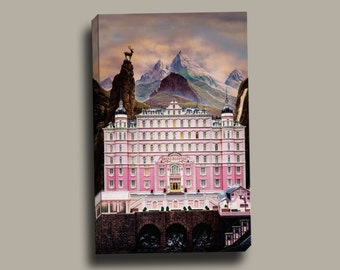 The Grand Budapest Hotel Textless Print Gallery Wrapped