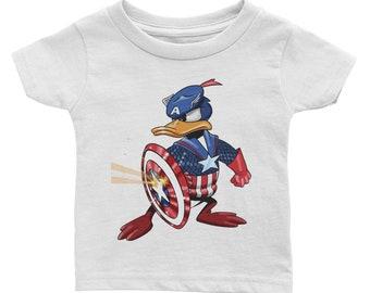 Donald Captain America Infant Tee