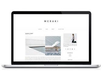 Wordpress Theme - Meraki - Responsive Wordpress Blog Design - Wordpress Template - Wordpress Theme Feminime - Wordpress Theme Modern