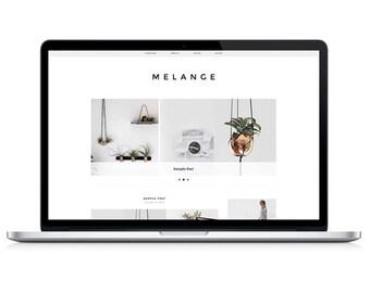 Wordpress Theme - Melange - Responsive Wordpress Blog Design - Wordpress Template - Wordpress Theme Feminime - Wordpress Theme Modern