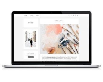 Wordpress Theme - Mila - Responsive Wordpress Blog Design - Wordpress Template - Wordpress Theme Feminime - Wordpress Theme Modern