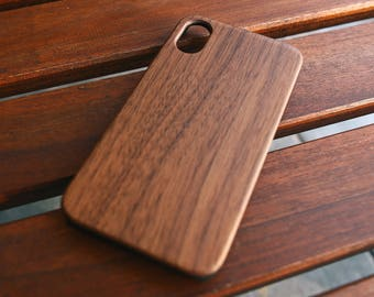 Wooden iPhone X Case, iPhone X Case Wood, Wood iPhone X Case, Wooden Phone Case, Wooden Phone Cover, Walnut Wood, Best Selling Wood Items