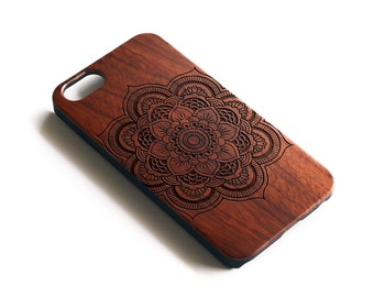 Mandala iPhone Case, iPhone 6S Case Wood, iPhone SE Case Wood, iPhone 6 Case Wood, iPhone 8 Plus Case Wood, iPhone 6S Plus Case,iPhone Case