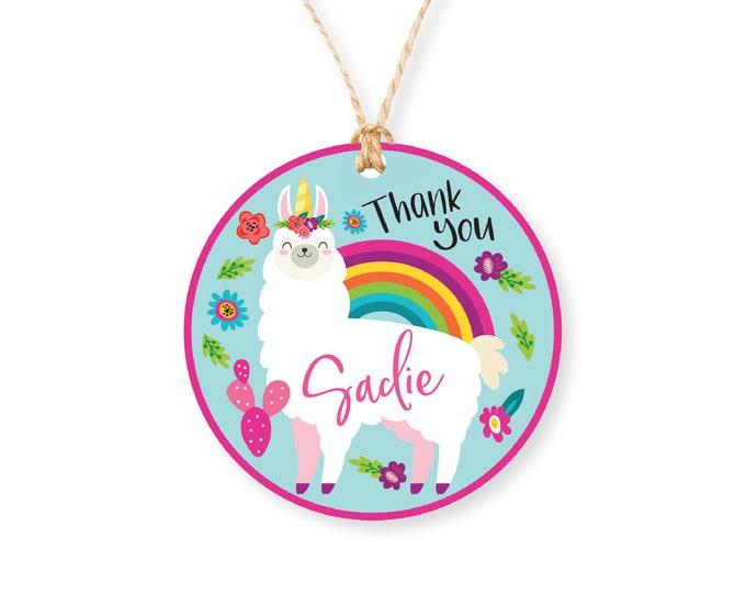 Llamacorn Party Favor Tags, Llama Unicorn Birthday Girl Printable Tag, Llama/Unicorn birthday Party, Fiesta Party