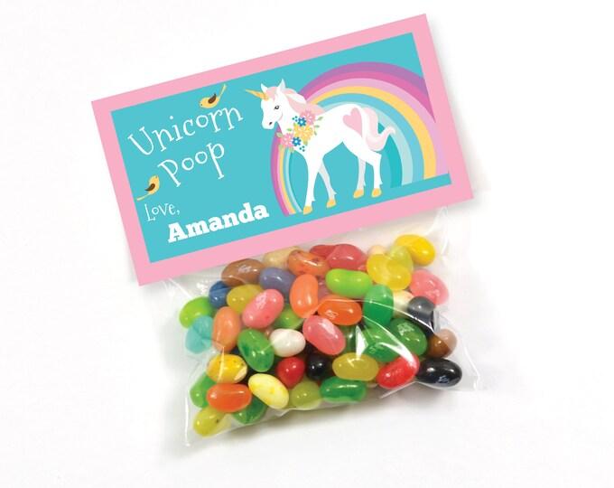 Unicorn Poop, Unicorn Party Treat Bag Topper - Valentin Party, Unicorn Birthday, Magical Party, Printable, Customized text