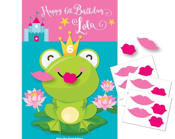 Kiss the Frog- Princess Party game / DIY party game / Princess Party / Pin the Lips on the Frog / Printable Digital files