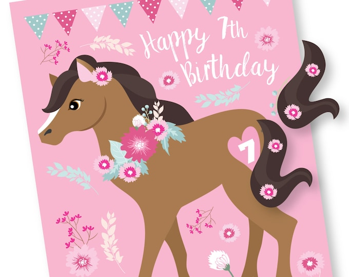 Pin the Tail on the Pony - Horse- party game - Pink Pony Game - Cowgirl Party Game - DIY party game - Digital Files