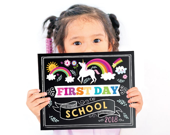 First Day of School Sign, Back To School Sign, First Day of School Chalkboard Sign, Kindergarten Sign, Chalkboard Sign, Printable Files