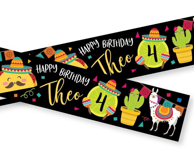 Fiesta Bottle Label, Customized Printable DIY - Fiesta, Taco Birthday Party Water Label,  Water Label - llama, cactus, Mexican fiesta