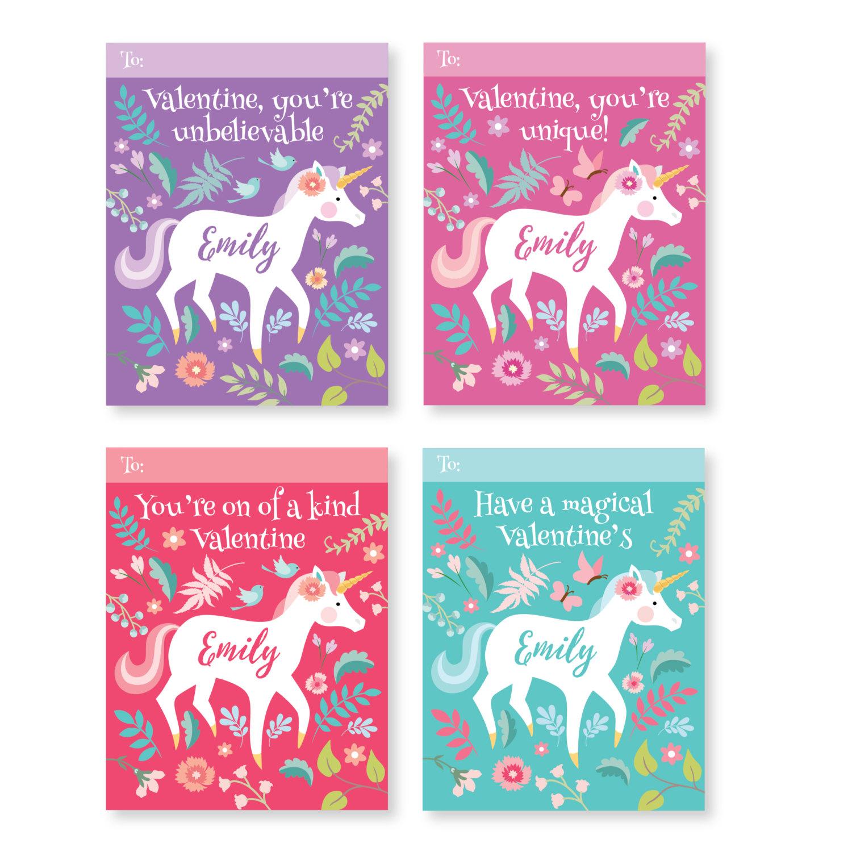 unicorn valentines day cards  printable diy card