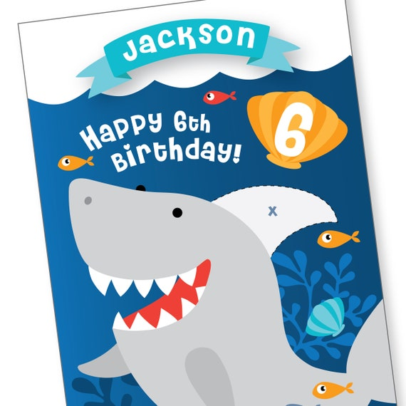Personalized Pin the Fin Shark on the Shark Game,Shark Birthday,Boy Birthday Games,Shark Game,Birthday Game,PDF,Printed Version Available