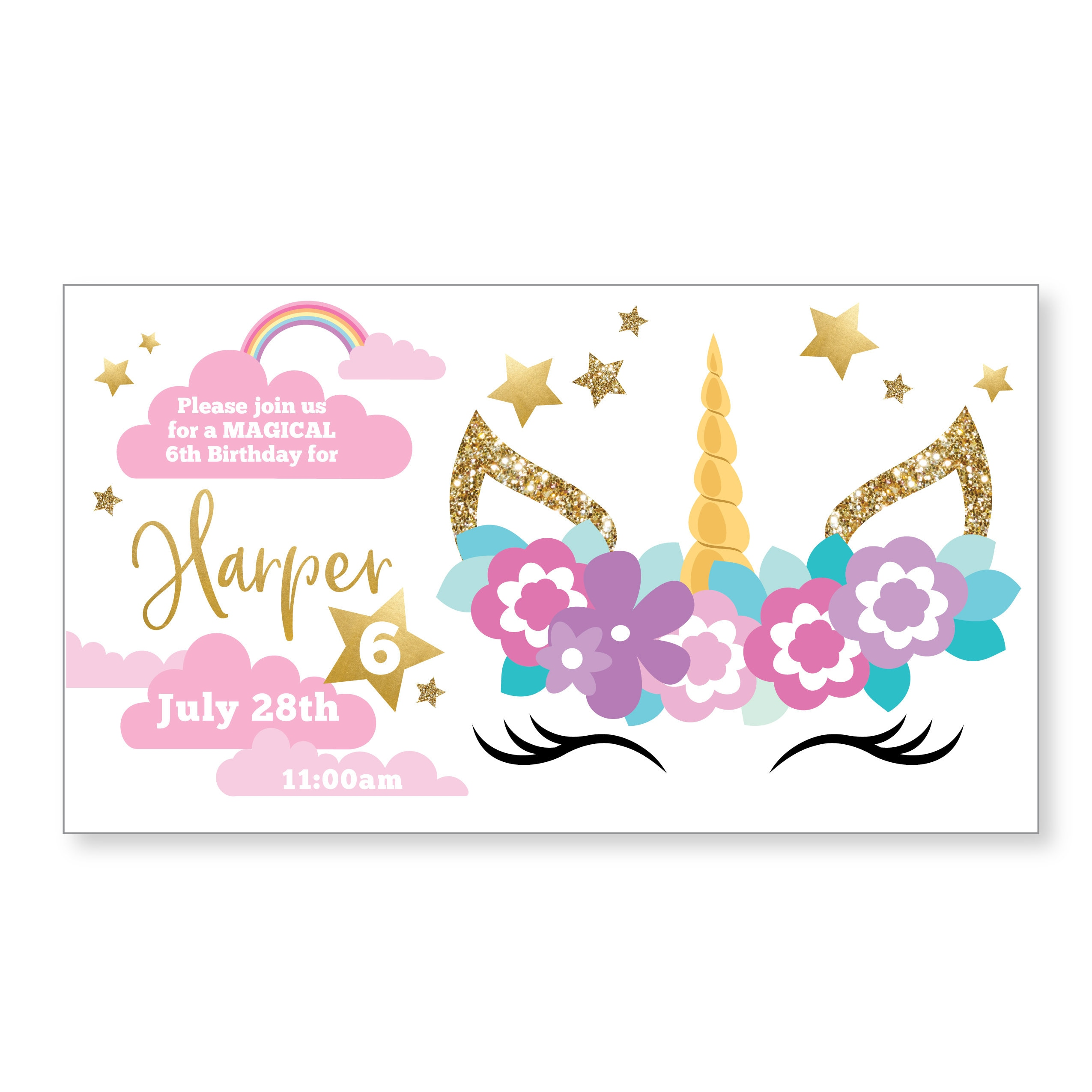 Sleeping Unicorn Facebook Event Header / Unicorn Birthday ...