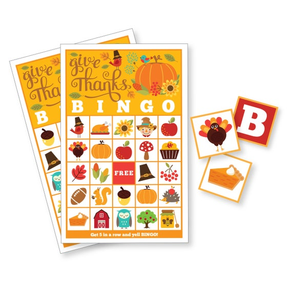photograph regarding Printable Bingo for Kids named Thanksgiving BINGO Recreation - Small children Printable Bingo Match - Bingo Recreation for Young children  Older people - Thanksgiving Social gathering Match - Tumble Bingo, Instantaneous Down load