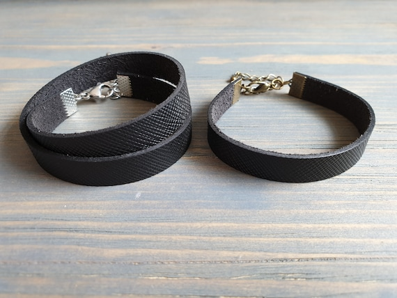 Black Leather Wrap Bracelet, Minimalist Bracelet, Leather Bracelet, Leather Cuff Bracelet, Leather Bangle Bracelet, Simple Leather Bracelet