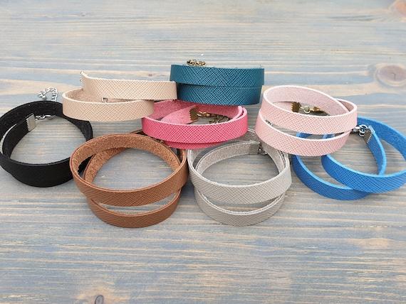Leather Wrap Bracelet, Leather Cuff Bracelet, Leather Bracelet, Boho Bracelet, Minimalist Bracelet, Simple Leather Bracelet, Double Wrap