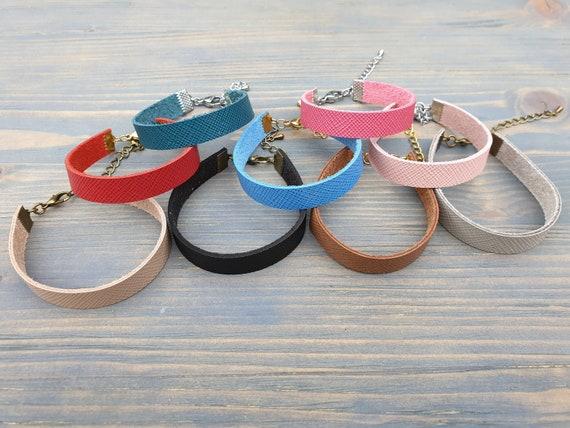 Leather Bracelet, Leather Cuff Bracelet, Genuine Leather Bracelet, Simple Leather Bracelet, Minimalist Bracelet, Adjustable Leather Bracelet