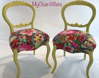 Kitchen chair fabric   Etsy