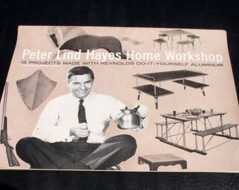 VTG MCM c1959 15 Projects Made w Reynolds DIY Do-It-Yourself Aluminum. Reynolds Metals Co Peter Lind Hayes Home Workshop Patterns