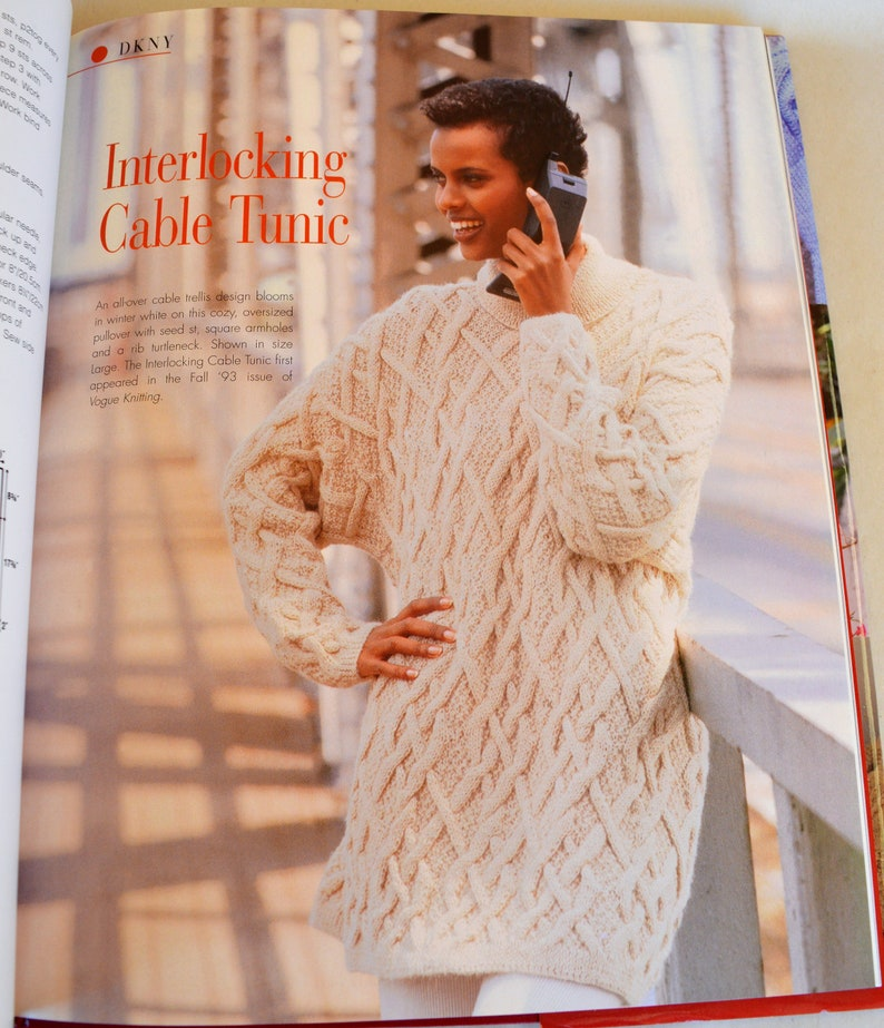 HCDJ Book Vogue Knitting Designer Knits  ISBN 1-57389-009-X  Gorgeous  Patterns! Calvin Klein Anna Sui Todd Oldham & More  Free US Shipping