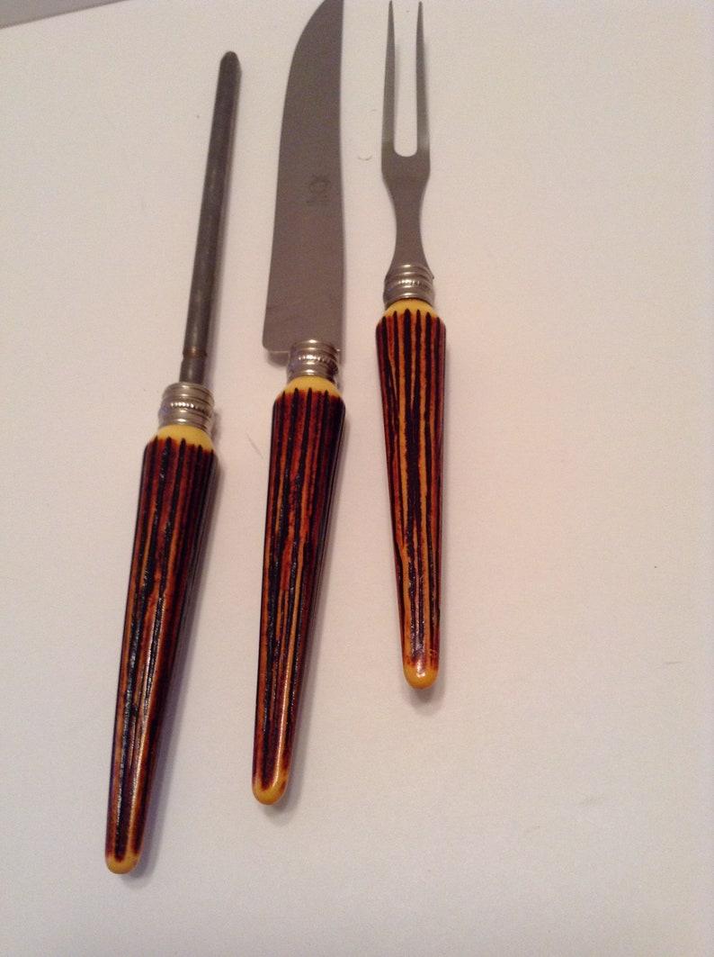 Antiques Delicious 12 Knives Bakelite Art Deco Knives