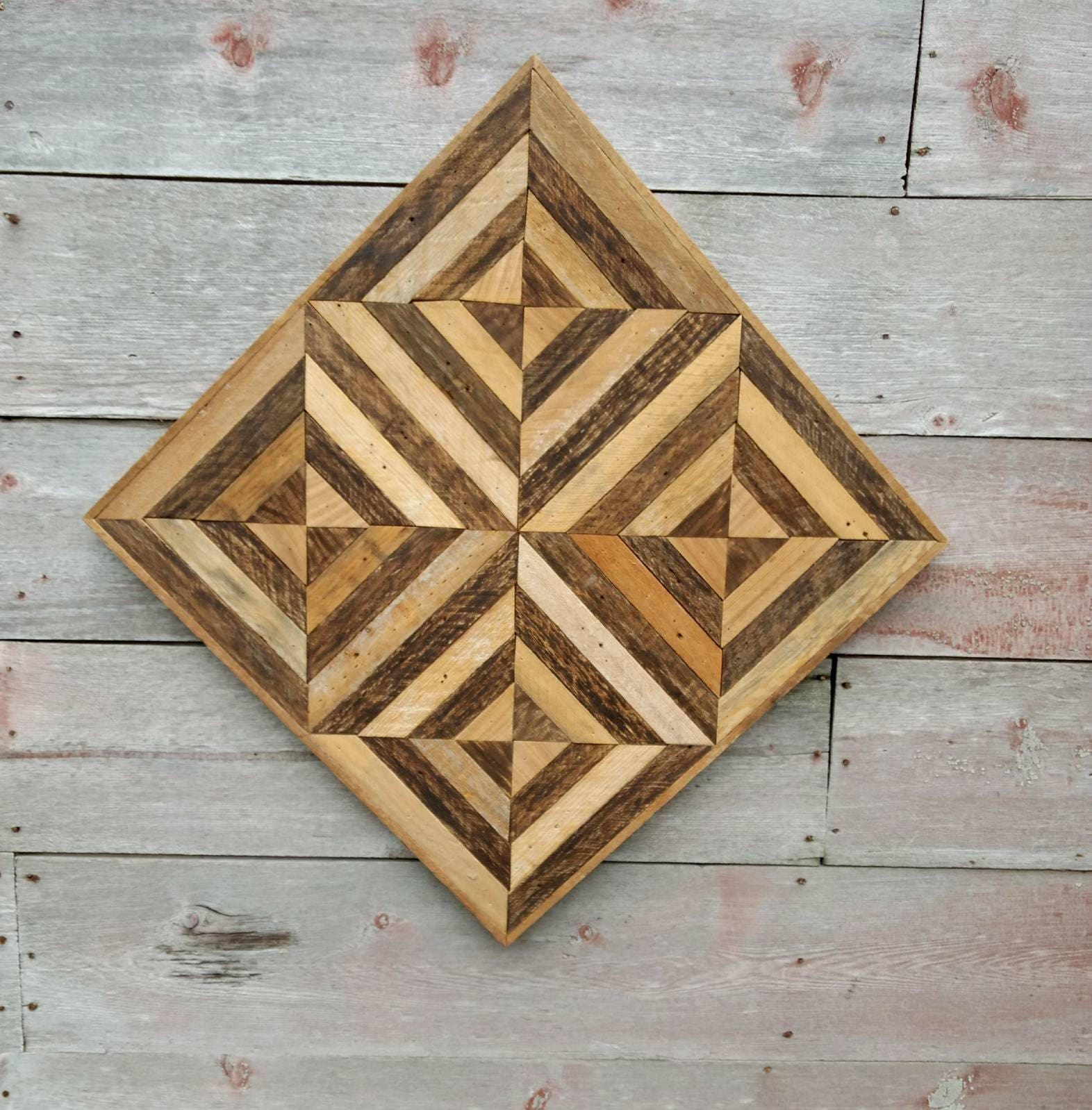 optical wood illusion decor salvage geometric