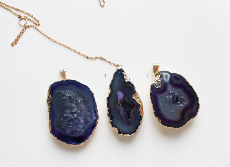 Franki Agate Teardrop Lariat  Y Necklace