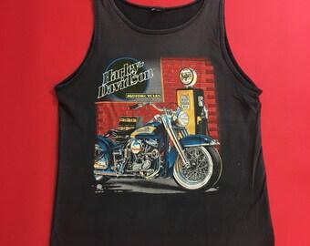 Harley Davidson Motorcycles Tank Top size Large, 90s Vintage Harley Tank Top, Vintage Harley Motorcycles Tank Top, Oversized Harley Tank Top