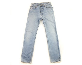 16eaa06f614 Levi's 501 Size 28 Jeans, Light Wash Levi's Jeans 28, Button Fly Jeans Size  28 Waist, Mom Jeans Size 28, Straight Leg Levis Size 28