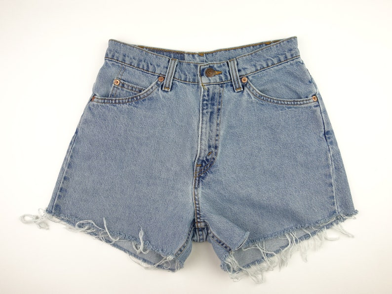 d709b367518 Levi s Size 27 High Waist Jean Shorts Denim Cut Off