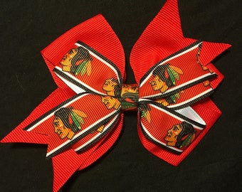 Chicago Blackhawks Hair Bow