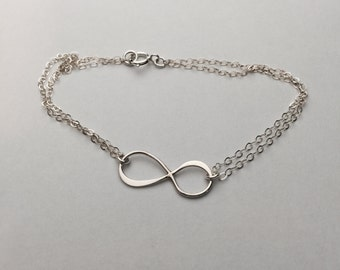 Sterling Silver Infinity Bracelet-Best Friend Gift- Bridesmaid Gift- Gift For Her- Bridesmaid Jewelry- Wedding Jewelry