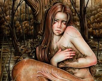 Lágrimas del río Fantasy Art Print 8x12