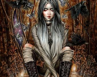 Magic Portals 6x8 Fantasy Goth Art Print by Enys Guerrero