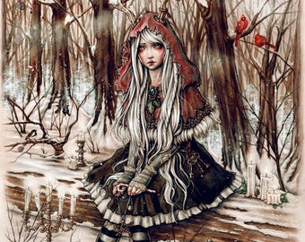 Once Upon a Time in Yule 8x10 Fantasy Art Print