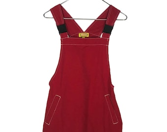 90s Red Romper Dress
