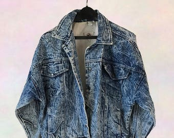 Acid Wash 90s Denim Jacket