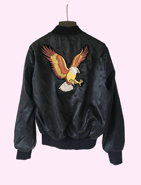 Bomber Jacket / Eagle Patch in Front & Back a0FNc