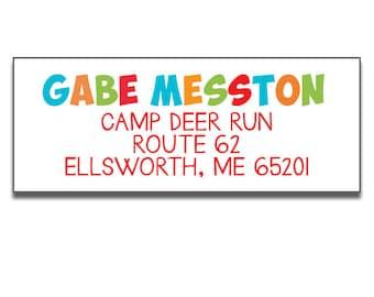 Girls Personalized Address Label Summer Camp Note Return Mailing Label Custom Printed Address Label Best Summer Ever Camp Address Label