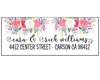 60 Floral Antler Holiday Address Labels