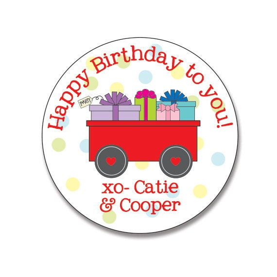 personalized gift stickers personalized birthday gift labels etsy