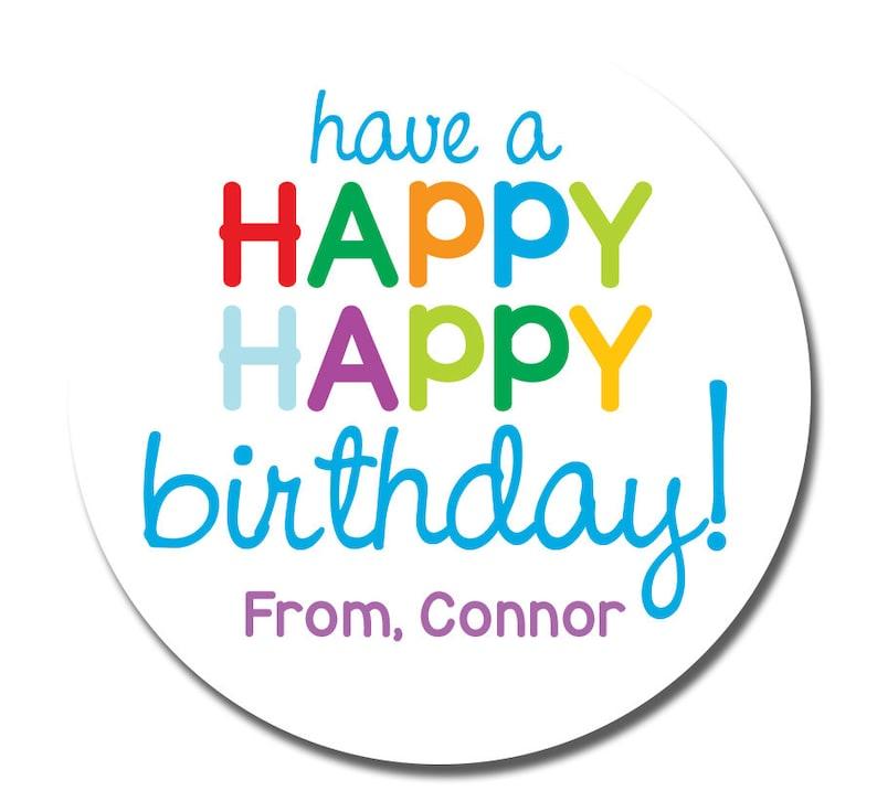 Birthday Stickers Boy Gift Happy