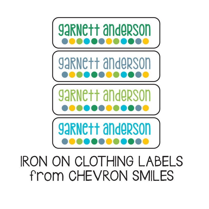 65 Clothing Labels, Iron On Fabric Stickers, Boy Daycare Labels, Iron On  Labels for School & Camp